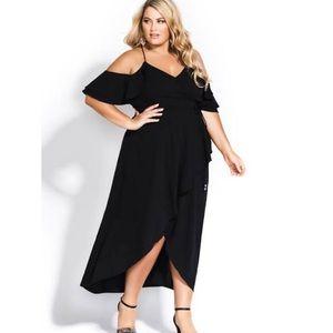 NWT City Chic Miss Jessie dress in black - sz 16